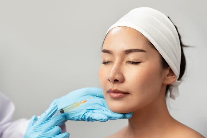 Cheek filler injection treatment injection