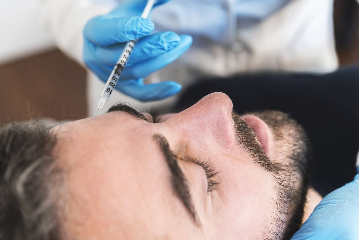 Injectables and skin care for men at The Lumen Center